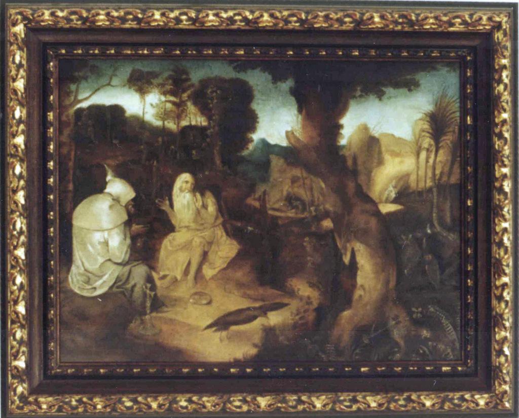 K0003 - kopia z oryginału 430x320 - Jan de Cook - olej na desce - Św. Paweł i Św. Antoni